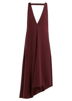 Tibi Asymmetric V-neck midi dress