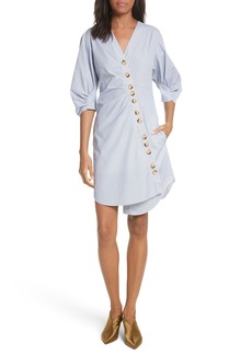 Tibi Asymmetrical Cotton Shirtdress