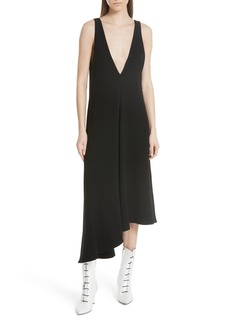 Tibi Asymmetrical Double V-Neck Dress