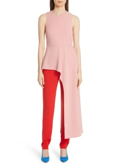 Tibi Asymmetrical Draped Top