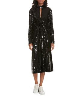 Tibi Avril Sequin Midi Dress