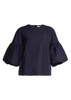 Tibi Balloon-sleeve cotton top