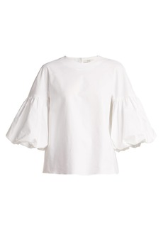 Tibi Balloon sleeve cotton top