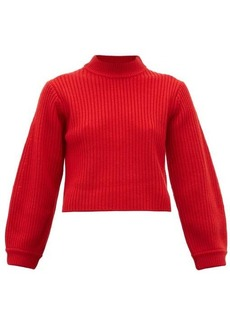 Tibi Balloon-sleeve merino-wool sweater