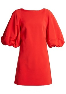 Tibi Balloon-sleeved faille mini dress