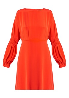 Tibi Balloon-sleeved silk-crepe dress
