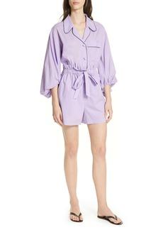 Tibi Baptise Cotton Pajama Romper