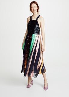 Tibi Beaded Sequin Overall Dress