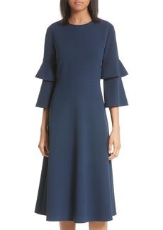 Tibi Bell Sleeve Midi Dress