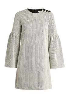 Tibi Bell-sleeve ribbed dress
