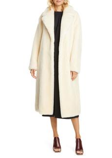 Tibi Belted Faux Fur Coat