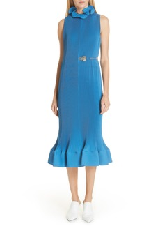 Tibi Belted Midi Dress