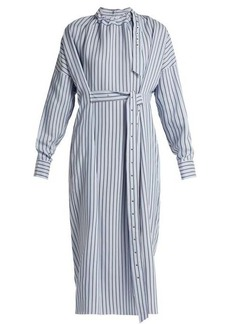 Tibi Belted striped dress