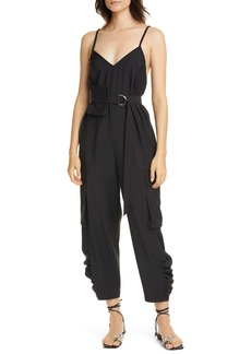 Tibi Belted Tropical Jumpsuit