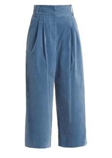 Tibi Bianca wide-leg cropped trouser
