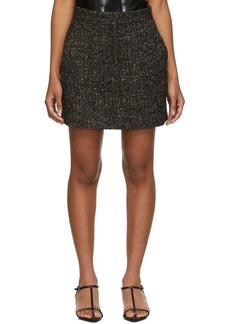 Tibi Black & Multicolor Recycled Tweed High-Waisted Miniskirt