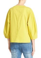Tibi Boatneck Cotton Top
