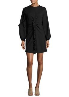 Tibi Bond Ruffled Knit Mini Dress