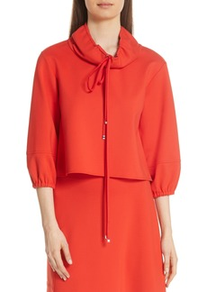 Tibi Bond Stretch Knit Cowl Neck Top