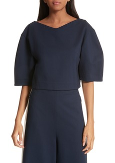 Tibi Bond Stretch Knit Crop Top