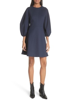 Tibi Bond Stretch Knit Fit & Flare Dress