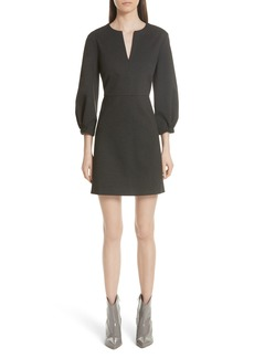 Tibi Bond Stretch Knit Puff Sleeve Dress