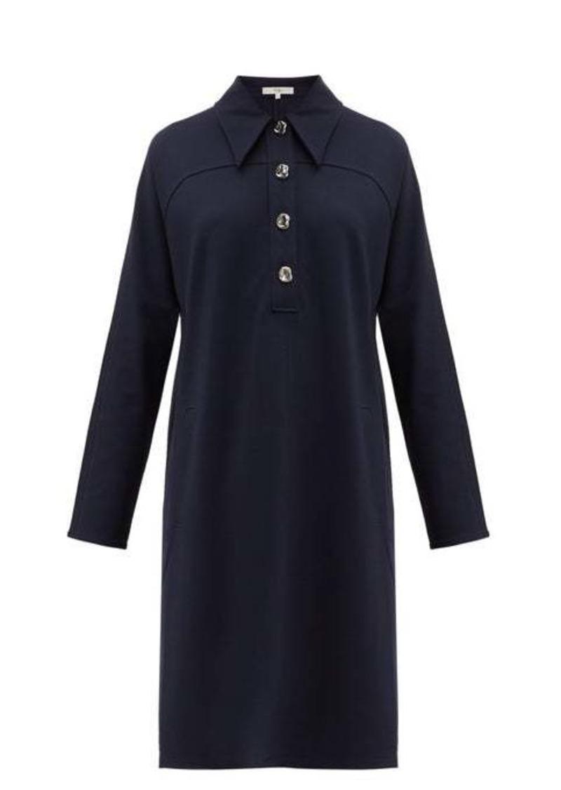 Tibi Bond stretch-knit shirtdress