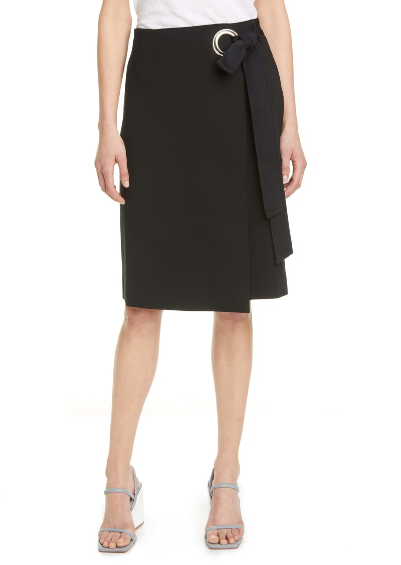 Tibi Bond Stretch Knit Wrap Skirt
