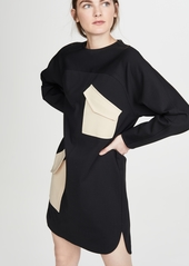 Tibi Bond Stretch Patched Dress