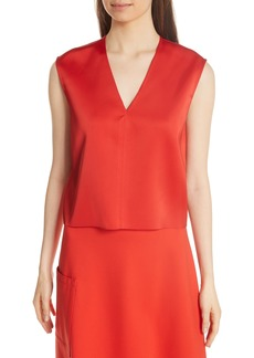 Tibi Bonded Satin Crop Top
