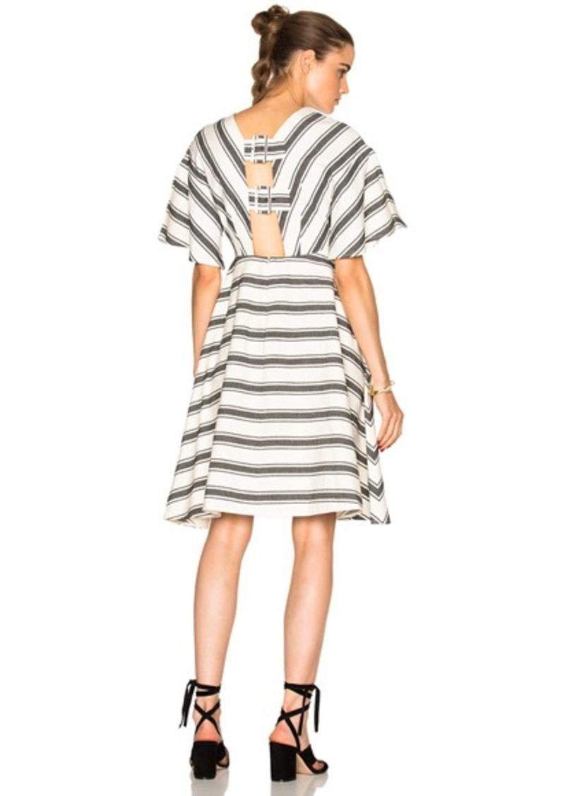 Tibi Cape Sleeve Dress