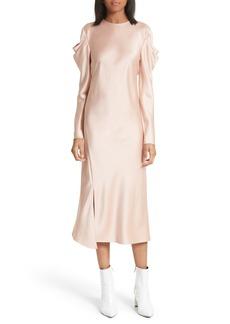 Tibi Celestia Drape Sleeve Midi Dress