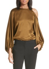 Tibi Celestia Off the Shoulder Satin Top