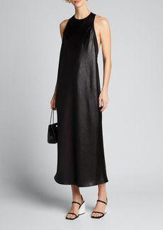 Tibi Celia Drape Sleeveless Bias Dress