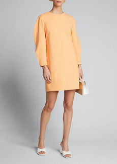 Tibi Chalky Drape Origami-Sleeve Shift Dress