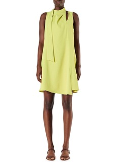 Tibi Chalky Drape Pleat Shift Dress