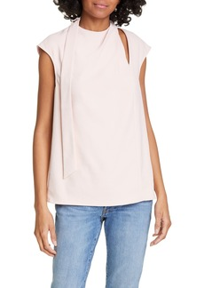 Tibi Chalky Drape Pleated Top
