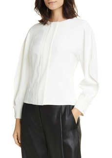 Tibi Chalky Origami Sleeve Top