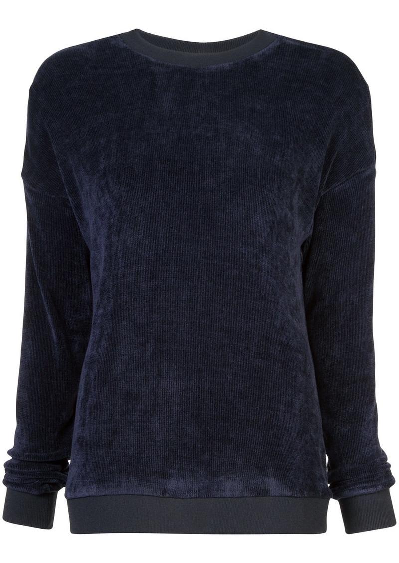 Tibi loose-fit crew neck jumper