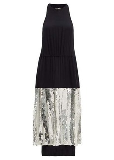 Tibi Claude sequinned silk midi dress
