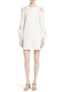 Tibi Cold Shoulder Shift Dress
