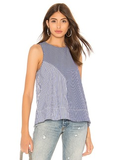 Tibi Collage Colorblock Tank
