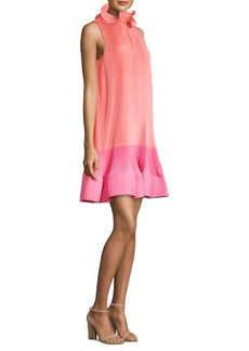 Color Block Pleated Dress