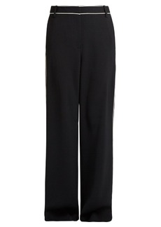 Tibi Contrast-seam high-waisted trousers
