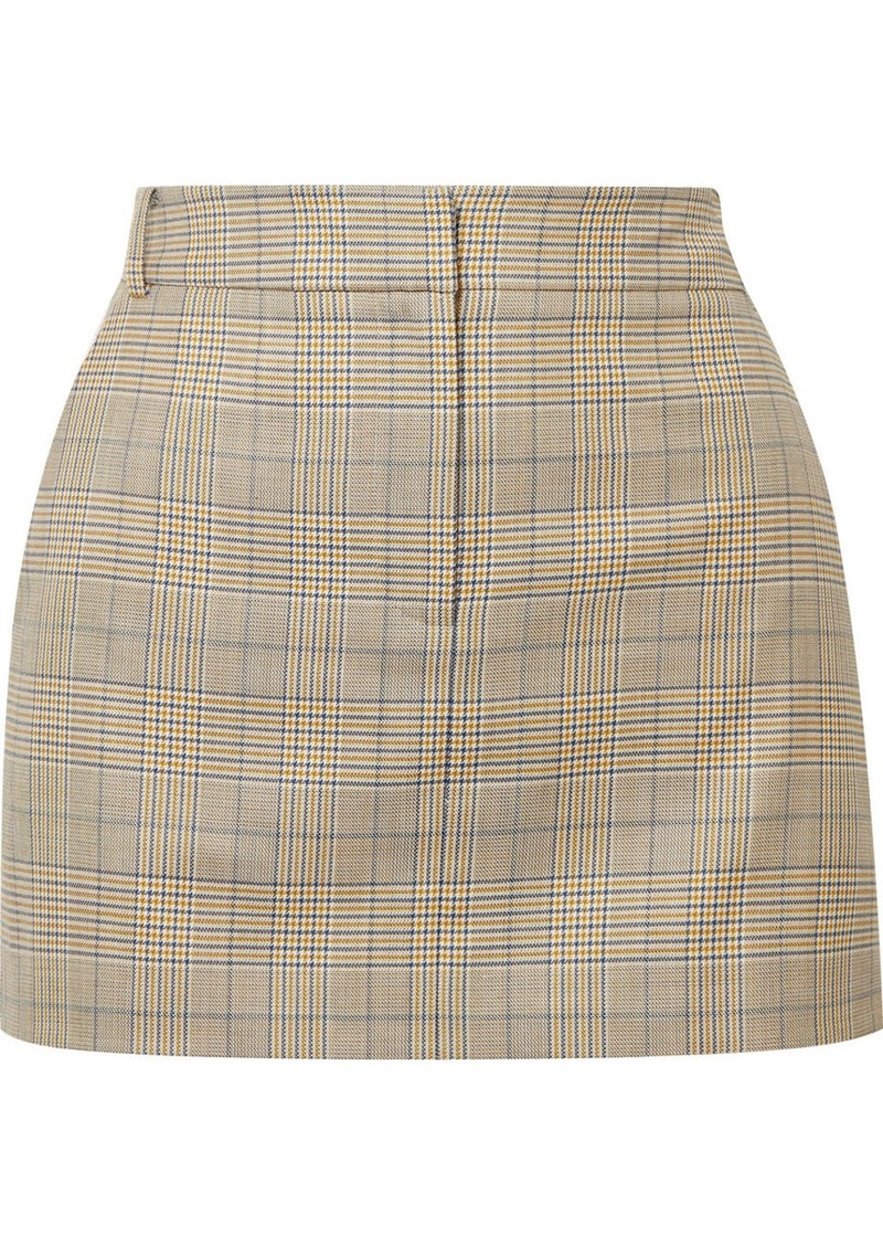 43dc08bcb0 Tibi Cooper Prince of Wales checked wool and silk-blend mini skirt ...