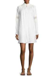 Tibi Cora Embroidered Cotton Shift Dress