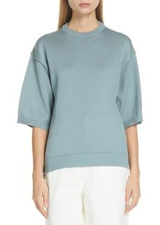 Tibi Corded Knit T-Shirt Sweater