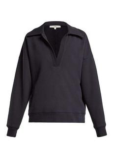 Tibi Cotton-blend polo sweatshirt