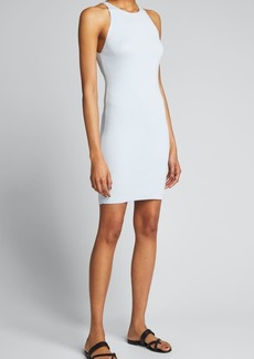 Tibi Cotton-Viscose Fitted Sweater Cami Dress