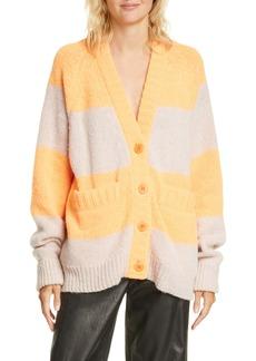 Tibi Cozette Stripe Oversize Alpaca Blend Cardigan